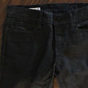 Gap leather skinny jeans